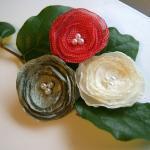 Spring Flower Hair Clips - Set of T..